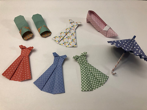 Dress, Shoes, and Umbrella Set