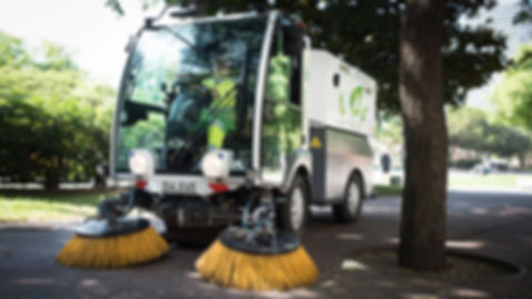 D.zero all electric street sweeper