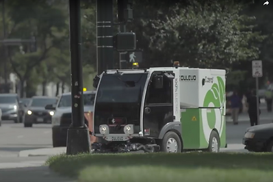 Dulevo all-electric street sweeper in do