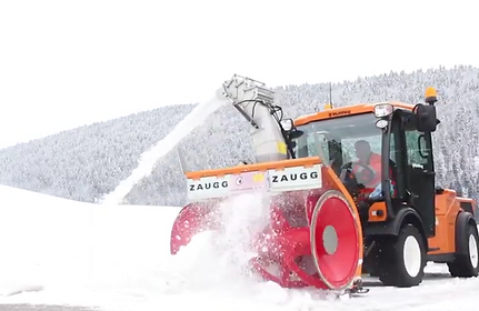 Multihog and Zaugg snowblower