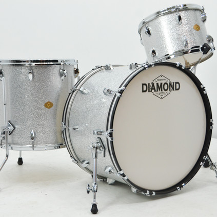 Diamond Drums Silver Sparkle 13/16/22