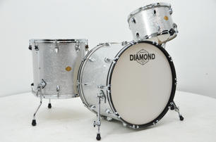 Diamond Drums in Silver Sparkle
