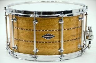CS Mahogany Snare Drum with Double Inlay