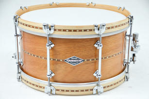 CS Mahogany Snare Drum with Wood Hoops
