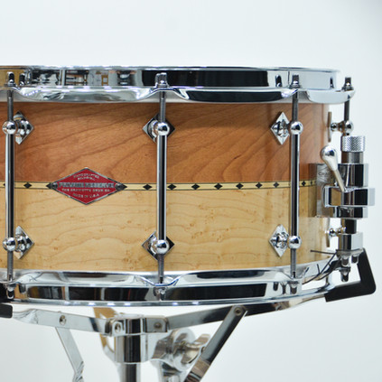 6.5x14 Stacked Solid Cherry and Birdseye Maple