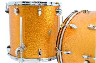 Diamond Drums in Gold Sparkle