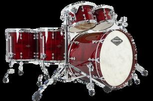 CS Cherry Gloss over Maple Drum Set