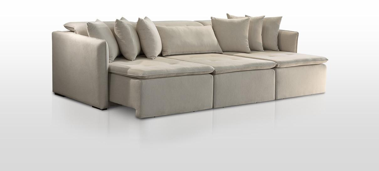 Sofá Retrátil e Reclinável com molas ensacadas