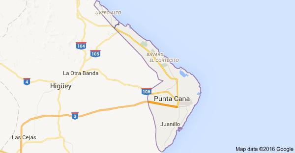 Localização Punta Cana