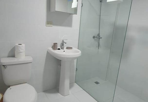 Banheiro privado em cada apartamento