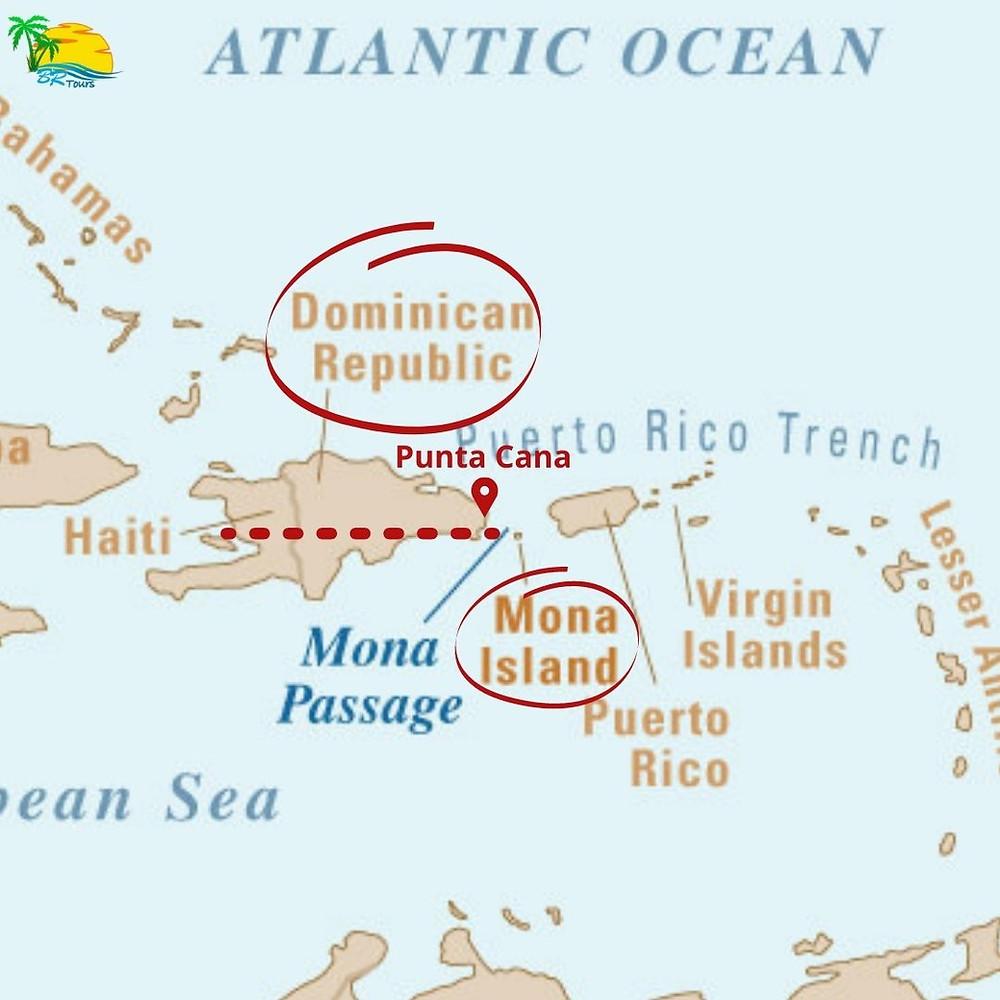 mapa oceano atlantico e caribe