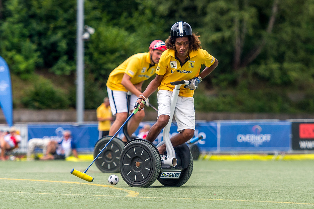 Nicholas Eastmond in Segway Polo action