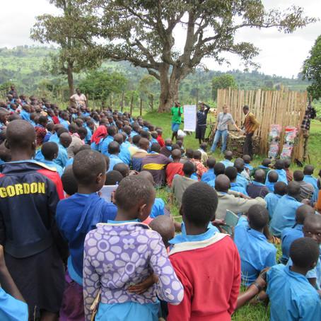 Testing vertical garden systems in four schools in Kapchorwa, Uganda