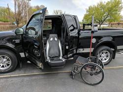 Wheelchair Truck valet seat