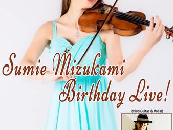 2019/8/8 Sumie Mizukami Birthday Live!!@BAR Jubilee