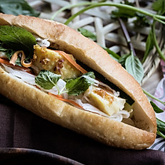 412  Grilled chicken and fresh mint banh mi