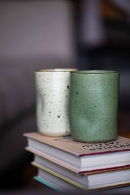 Wabi white and green