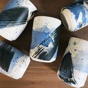 Lovely container handmade by HAMA Ceramics