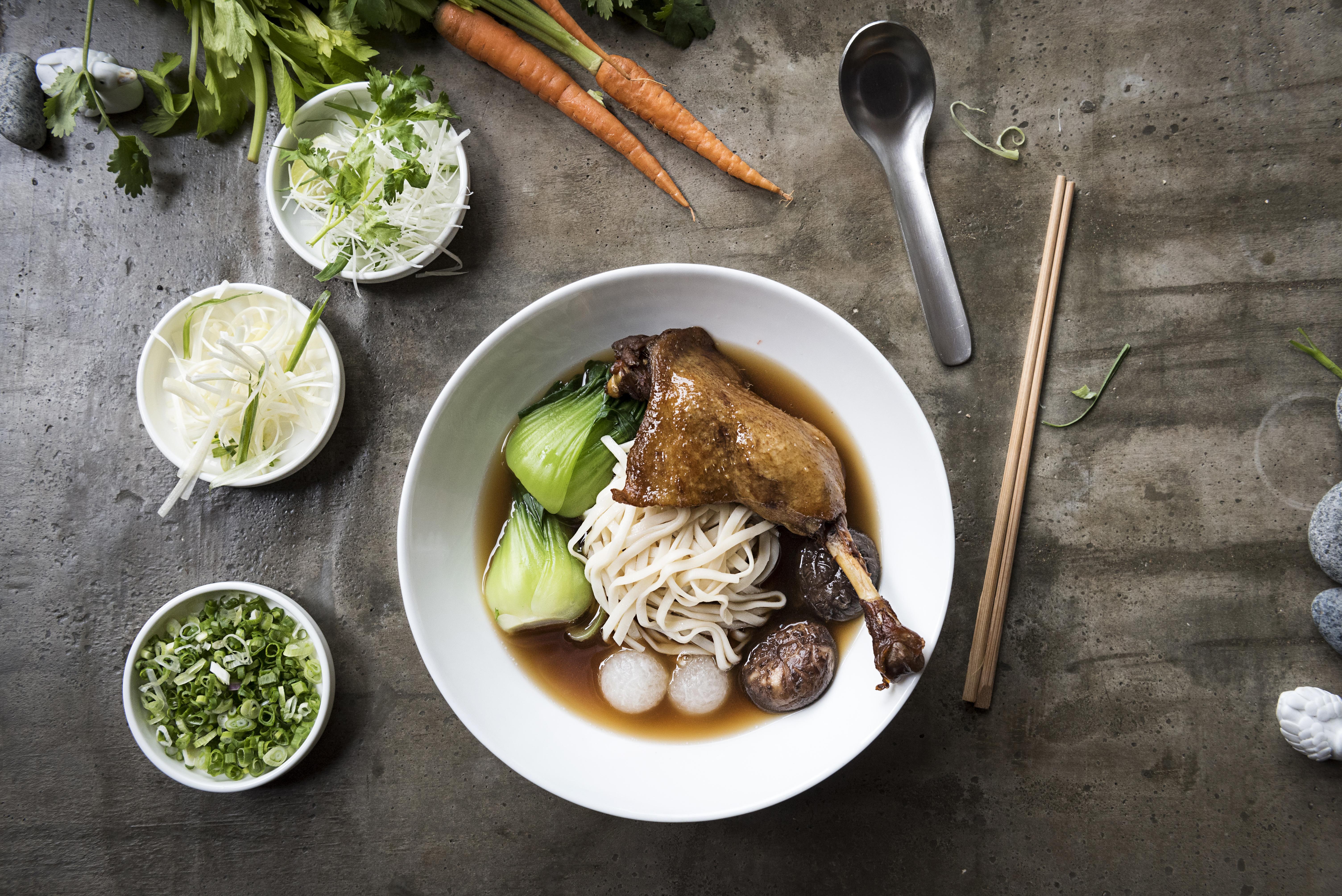 Duck Leg Melon Soup Noodle