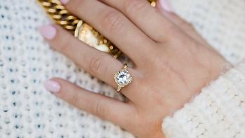 Old-Mine-Cut-Diamond-Asymmetrical-Engage