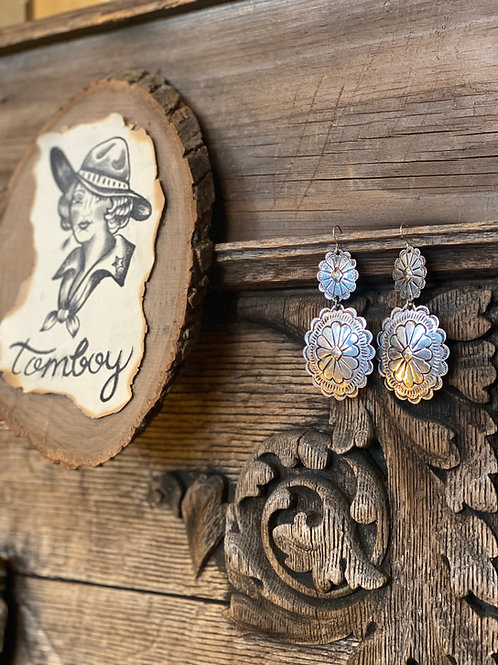 Big Concho Earrings