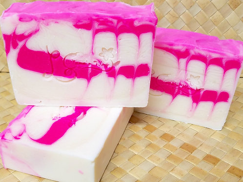 Pink & White Peppermint Soap
