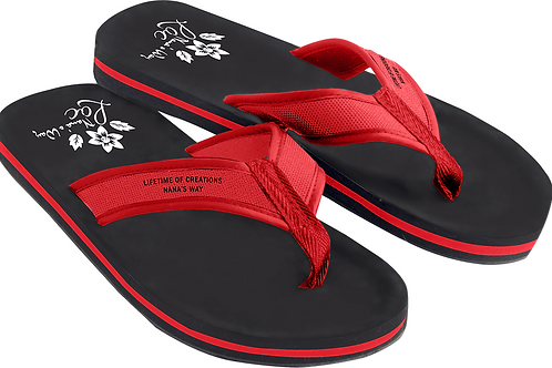 Red & Black Slippers