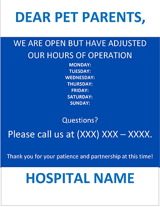 GP COVID- OPEN WITH ADJUSTED HOURS_FLYER