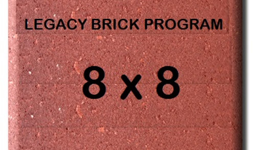 8 x 8 Engraved Brick