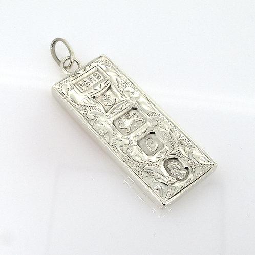 Vintage Sterling Silver Ingot Pendant