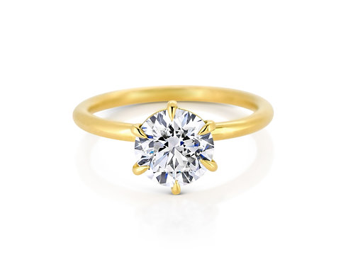 Fine 18ct Yellow Gold Diamond Engagement Ring