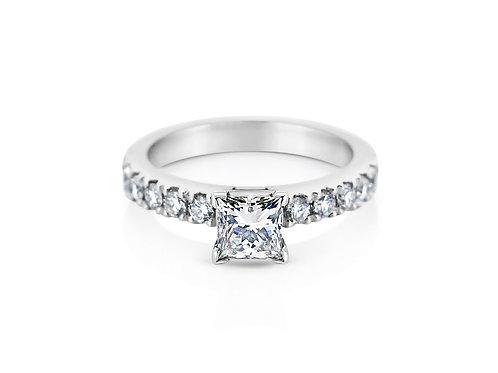 18ct White Gold Princess Engagement Ring