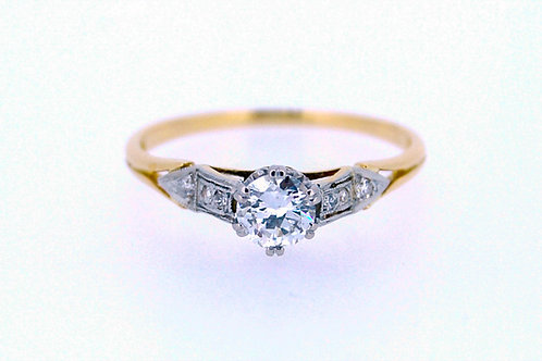 Vintage Platinum and Diamond Engagement Ring