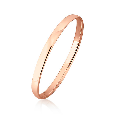 9ct Rose Gold Bangle 6mm Wide