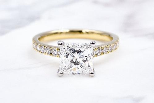 18ct Yellow & White Gold 1.50ct Diamond Ring