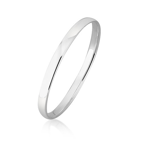 Sterling Silver Bangle 6mm Wide