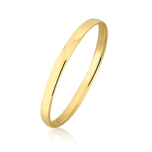 9ct Yellow Gold Bangle 6mm Wide