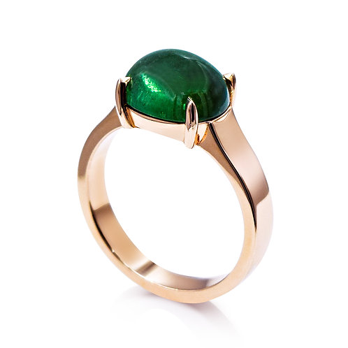 'Francisca' - 9ct Rose Gold Tourmaline Ring
