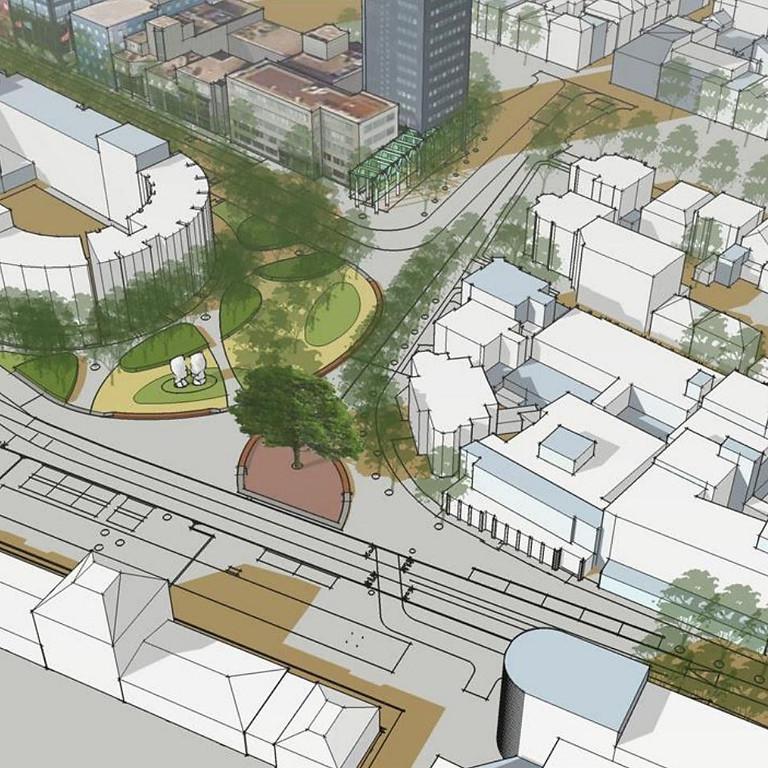 Het Stationsplein in Leeuwarden; de Nieuwe Stadsentree