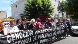 Mujeres en una marcha contra la violencia de genero.