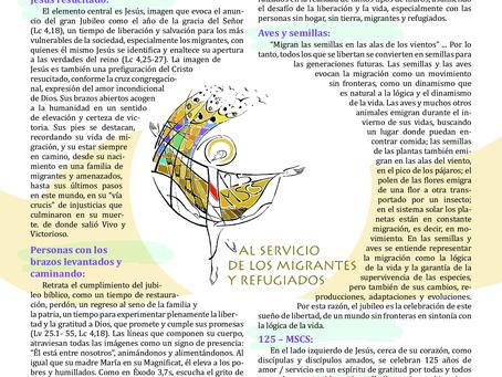 Logotipo Conmemorativo del Jubileo de los 125 Años de Fundación de la Congregación de las Hermanas