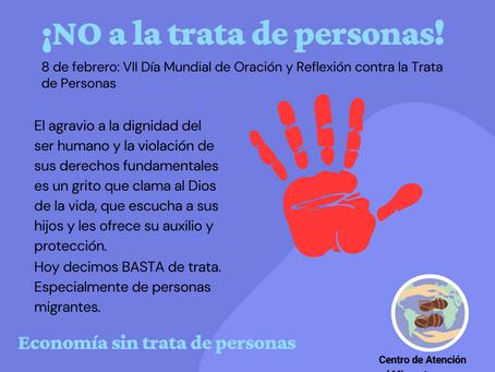 8 de febrero: VII Día Mundial de Oración y Reflexión contra la Trata de Personas
