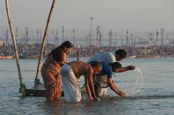 Bathing at the Sangam