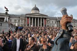 Pink flash mob, Trafalgar Square