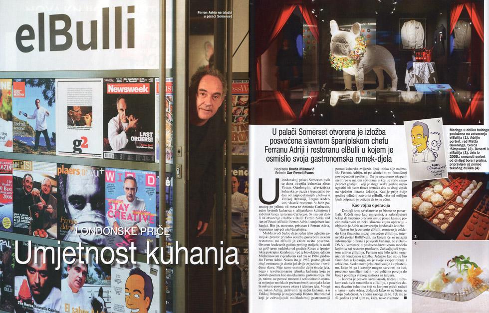 El Bulli, Gloria Magazine