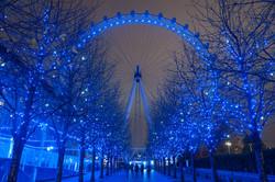 Christmas Lights, London Eye
