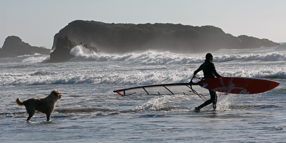 Windsurfer, Oregon coast