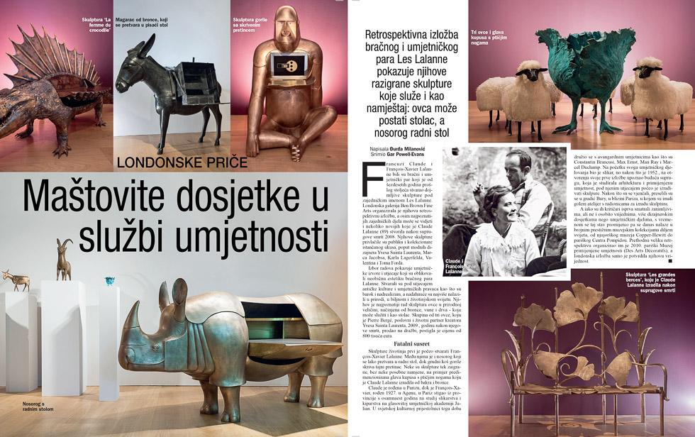 Les Lallanes, Gloria Magazine