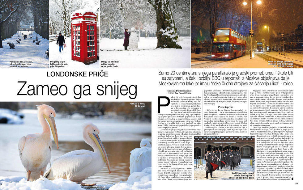 London Snow, Gloria Magazine