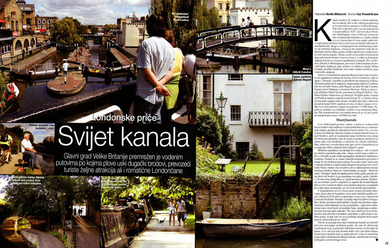London Canals, Gloria Magazine